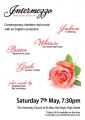 Intermezzo concert poster Easter 2016