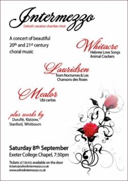 Intermezzo concert poster Summer 2012
