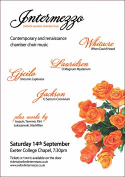 Intermezzo concert poster Summer 2013