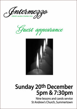 Carols by Candlelight poster Christmas 2015